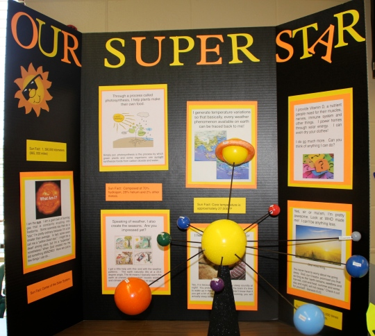 """Our Super Star,"" The Little One's First Grade Science Project on the Sun"