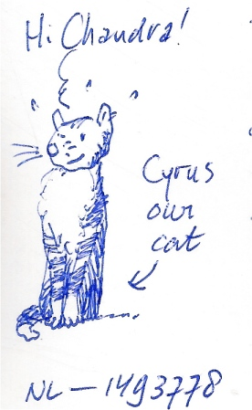 """Cyrus the Cat,"" Drawn by Maurice from the Netherlands"