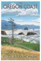 """Ecola State Park, Oregon."" View of Cannon Beach. Lantern Press, Image #31026."