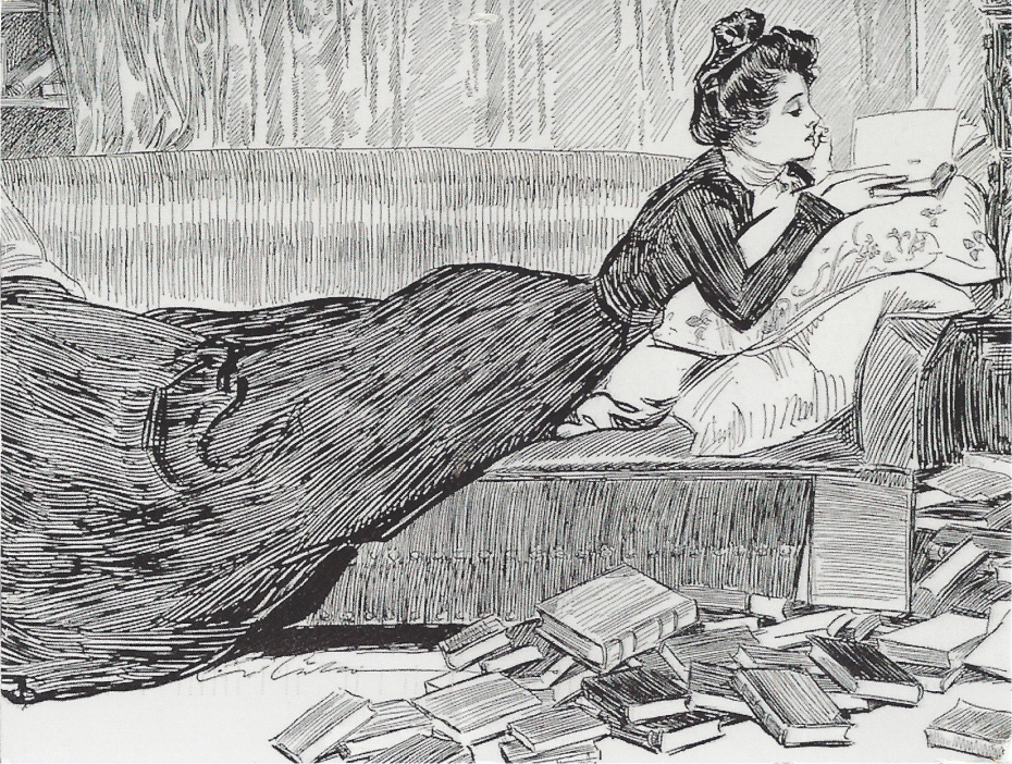 Woman Reading (from Zazzle)