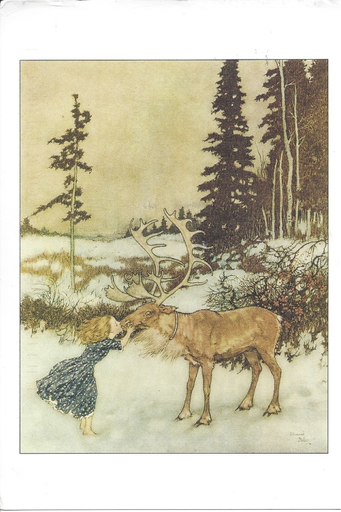 """The Snow Queen."" Illustration by Edmund Dulac.  Stories from Hans Christian Andersen, 1911.  From Once Upon a Time."