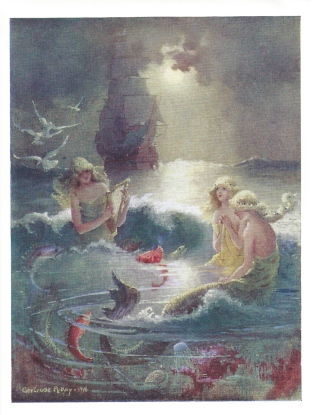 "Gertrude Alice Kay, ""Moonlight Mermaids, ""from When the Sandman Comes, 1916"