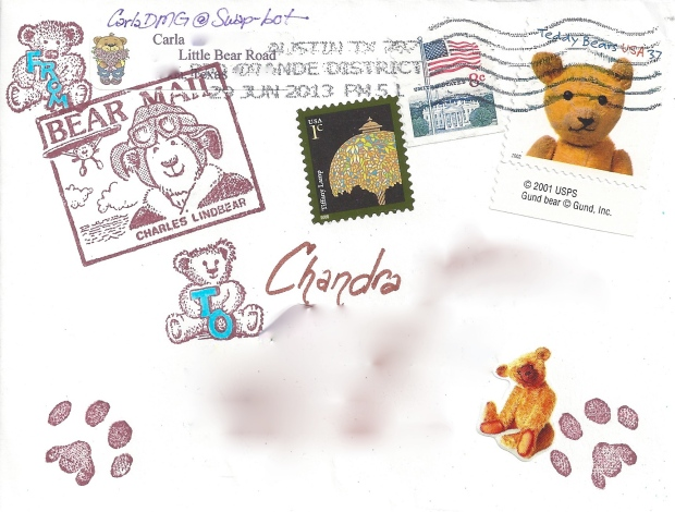 Teddy Mail Art (front) by CarlaDMG