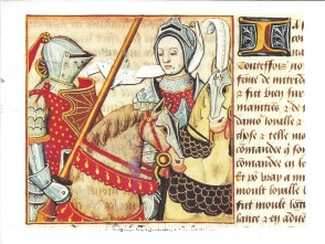 """Woman Warrior"", Giovanni Boccacio: Le Livre des cleres et nobles femmes [The Book of Clerics and Noble Women], French 15th century, Bibliotheque Nationale, Paris"