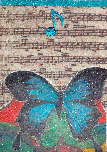 Sheet Music ATC with a Butterfly by Me!