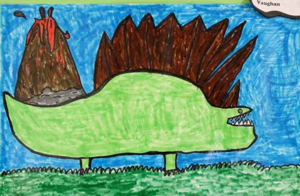 """Spike the Sailfin Lizard,"" by Vaughan, Second Grade"