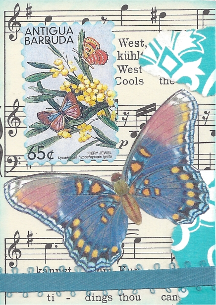 Music and Butterflies by Sherri for the Sheet Music with a Butterfly ATC Swap