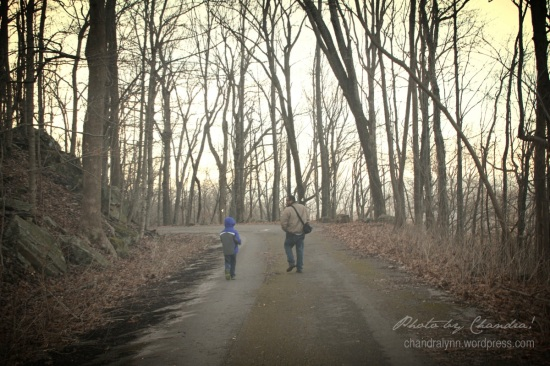 """Father and Son Chat,"" Monte Sano State Park, Huntsville, Alabama"