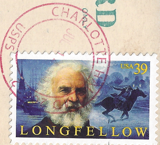 Longfellow Postage and Handstamped Postmark