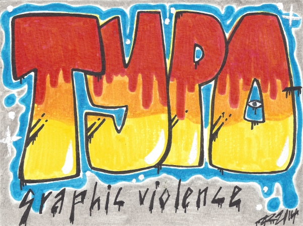 """Typographic Violence,"" by Deesides on swap-bot"""