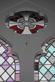 """Stained Glass Window,"" St. Ann's Church façade that sits in front of NYU's E. 12th Street dormitory, New York City, Original Photo 2011"
