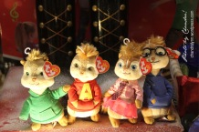 Alvin in the Chipmunks beanie babies make any shop window adorable. Nashville, Tennessee, 2014