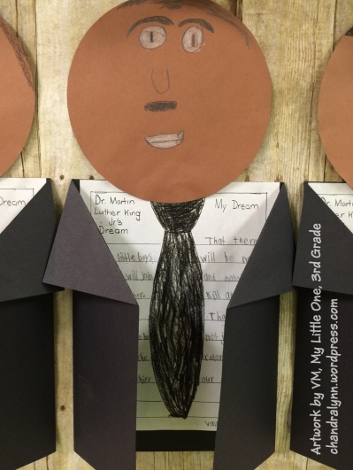 Martin Luther King, Jr. Artwork (and Essay) by Vaughan, 2015, 3rd Grade