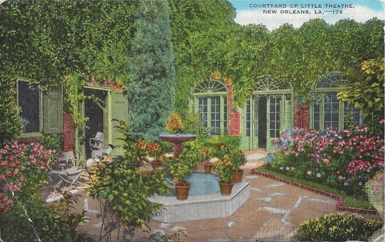Courtyard of Little Theatre, New Orleans, Louisiana
