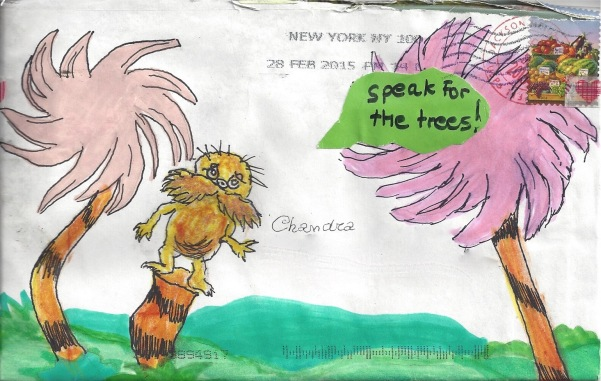 """Speak for the Trees,"" Mail Art by Nancylee on swap-bot"