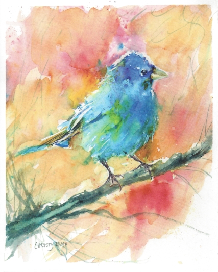 """Indigo Bunting"" by Christy Lemp"