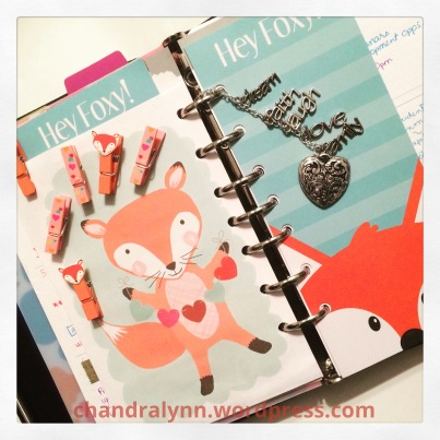 Foxes in My Planner!