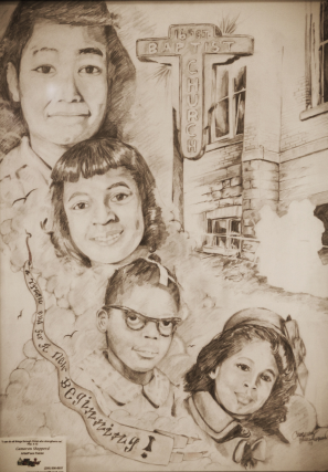 Sketch of the Four Little Girls by Cameron Shepperd