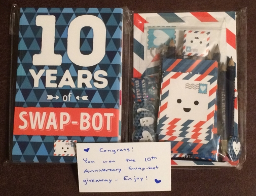 Swap-bot 10th Anniverary Giveaway.
