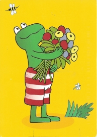 From Jetske (Netherlands). Frog, Kikker in Dutch. Illustration by Max Velthuijs