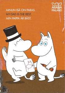 Week 19: From Noora (Finland). Moomin. Illustrated by Tove Jansson. Collaboration of Arabia (a famous tableware company in Finland) and Moomin.