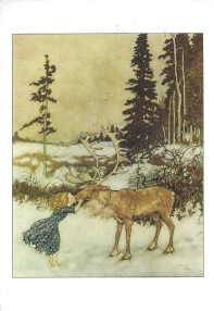 "Week 2: From Jenny, (USA). ""The Snow Queen,"" Illustration by Edmund Dulac, Stories from Hans Christian Anderen, 1911, from Once Upon a Time."