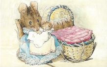 "Week 25: From Pek Mun (Malaysia). ""Hunca Munca and Her Babies. From The Tale of Two Mice, Illustrated by Beatrix Potter."