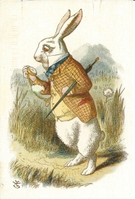 Week 3: From Hannah (England). White Rabbit. Illustration by John Tenniel in The Nursery Alice by Lewis Carroll 1890