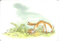 Week 7: From Raven (Singapore). Illustration by Anita Jeram for Guess How Much I Love You by Sam McBratney, 1995.