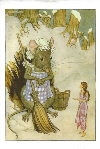 "Week 8: From Rita (USA). Illustration by Milo Winter, ""Thumbelina,"" Hans Christian Andersen's Fairy Tales, 1916. From Once Upon a Time."