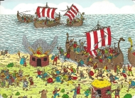 "Week 40: From Natasa (Australia). Illustration by Martin Handford. ""On Tour with he Vikings,"" from _Where's Wally Now?_"