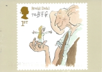 Week 95: From Debbie (England). Illustration by Quentin Blake for _The BFG_ by Roald Dahl. Reproduced from a stamp designed by Magpie Studio.
