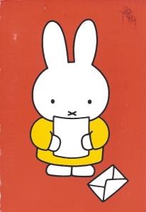 Week 98: From Marjan (Netherlands). Illustration by Dick Bruna. Miffy.