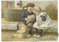 Week 100c: From Johanna (Netherlands). Illustration by Cornelis Jetses for _Nog bin moeder_.