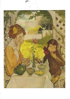 "Week 84: From Pam (USA). Illustration by Jessie Wilcox Smith for ""Beauty and the Beast,"" from _The Now-a-Days Fairy Book_, 1911."
