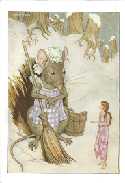 """Week 85b: From Amy (USA): Illustration by Milo Winter for """"Thumbelina,"""" from _Hans Andersen's Fairy Tales_, 1916."""