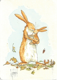 Week 108: From Peggy (USA): Illustration by Anita Jeram for _Guess How Much I Love You_ by Sam McBratney. Walker Books, www.walker.co.uk.