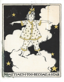 Bonus Card: From Karen (USA). Illustration by Sarah Stilwell Weber. From_The Musical Tree_, 1925.