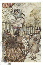 Week 104b: Illustration by J.M. Battle, 1910 from _Peter Pan in Kensington Garden_.