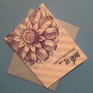 """Birthday"" Card Handmade by Bunny Bear Press"