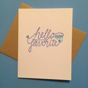 """Hello"" Card Handmade by Bunny Bear Press"