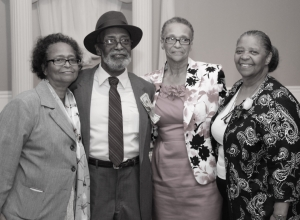 Daddy with his three younger sisters at his 80th birthday party.