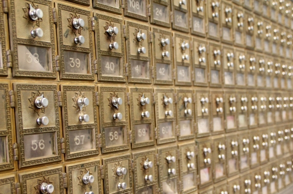 Vintage Post Office Boxes, Photo by Me!