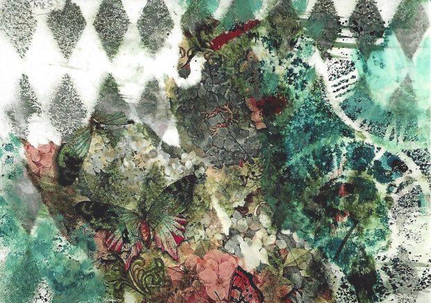 """I See You, Butterfly,"" artwork by Martha Slavin"
