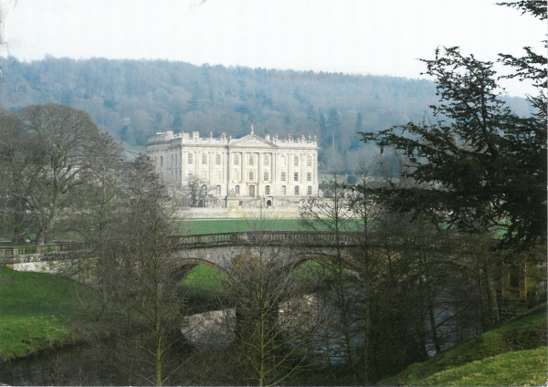 "From MissWhimsy: ""West Front and Paine's Bridge over the River Derwent, Chatsworth."" Chatsworth, Home of the Duke and Duchess of Devonshire."