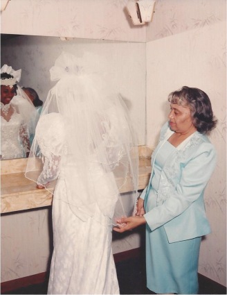 Mom with me on my wedding day.