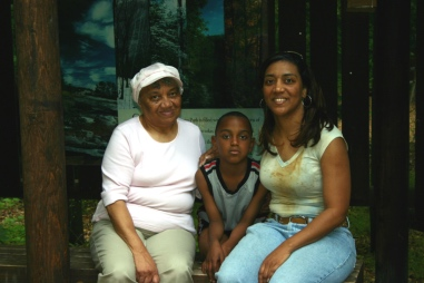 Mom with my sister Karlette (RIP) and nephew Eric