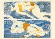 Woodblock Print by Holly Meade, Reach Road Gallery, Sedgwick, Maine