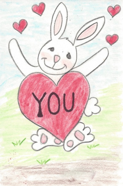 Love You Bunny, Art by Nancy F.