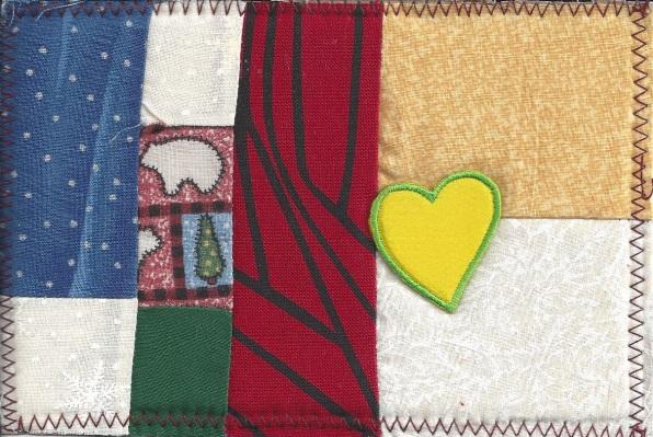 Fabric Postcard by Christine B.
